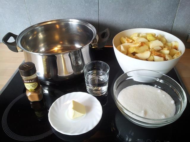 Ingrédients de la compote de pommes
